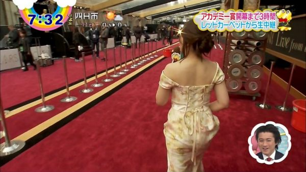 尾崎里紗アナの着衣おっぱい画像