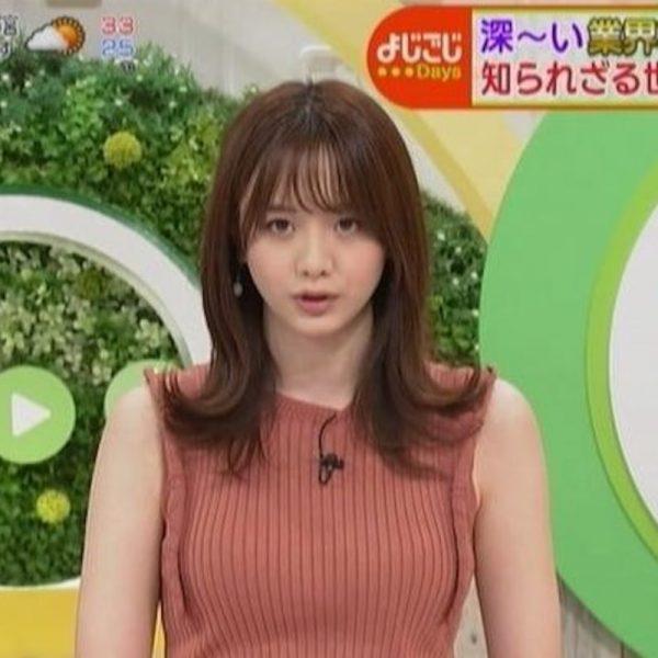 森香澄アナの着衣おっぱい画像