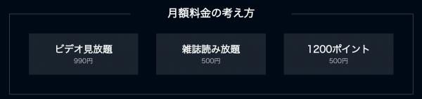 U-NEXT料金設定